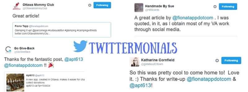Twittermonials